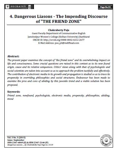 "Dangerous Liasons - The Impending Discourse of ""THE FRIEND ZONE"""