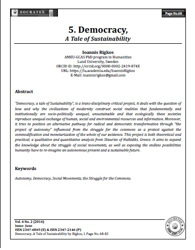 Democracy,  A Tale of Sustainability